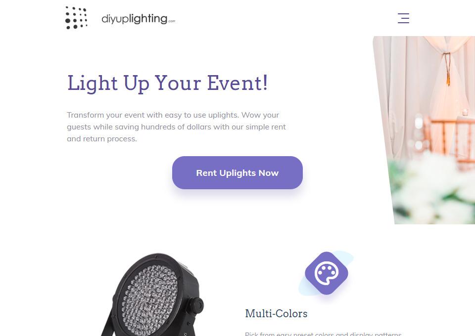 Diyuplighting – Uplighting Rental
