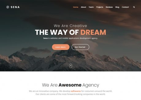 Sena – Responsive One Page Template