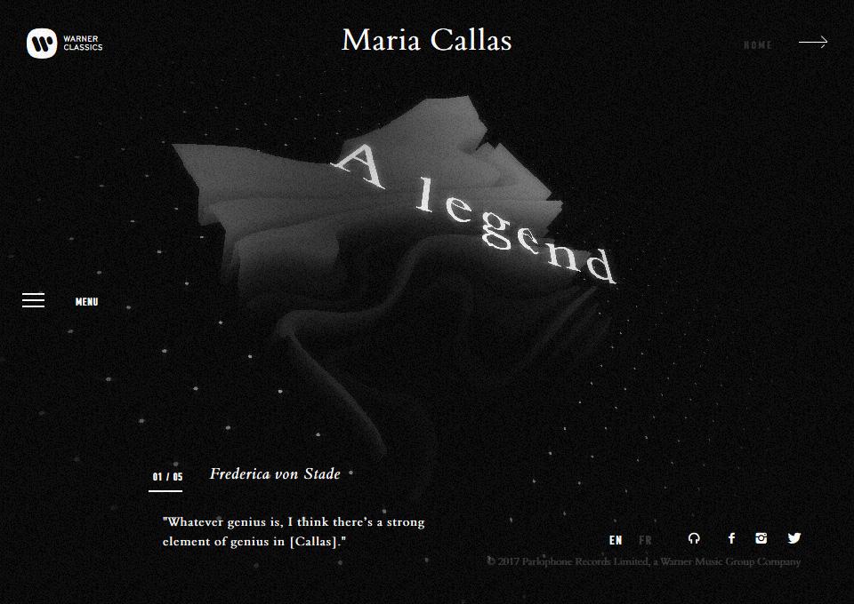 Maria Callas official website