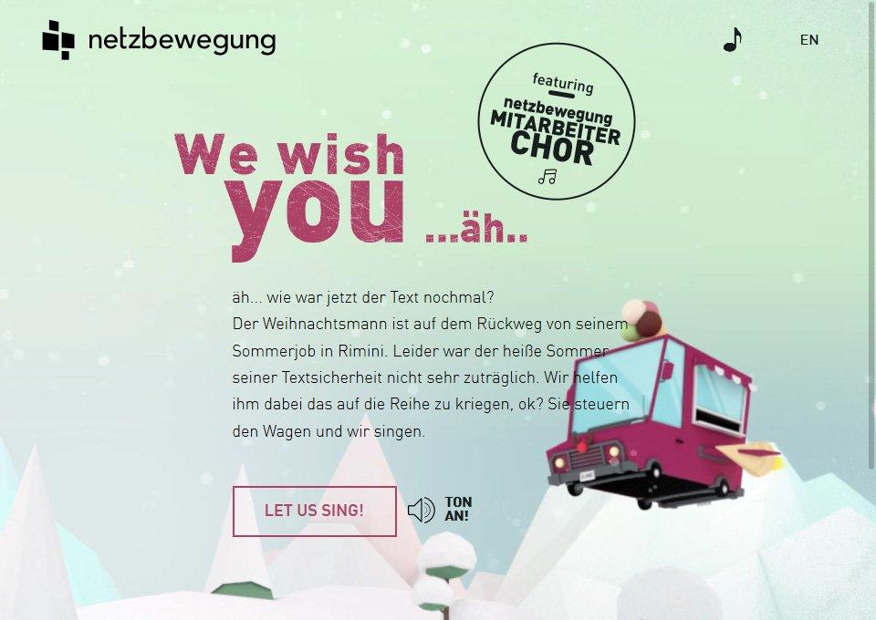Netzbewegung Merry Christmas