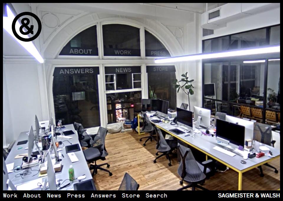 Sagmeister & Walsh Website