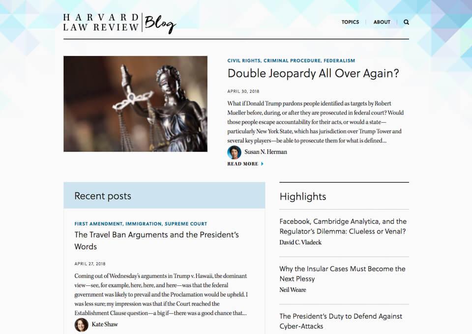 Harvard Law Review Blog
