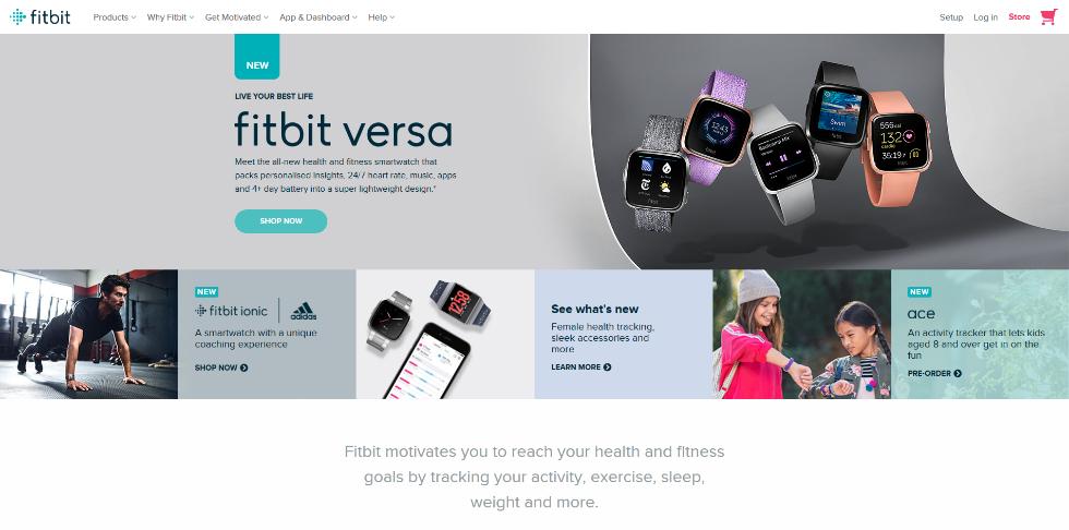 Smart device website design inspiration