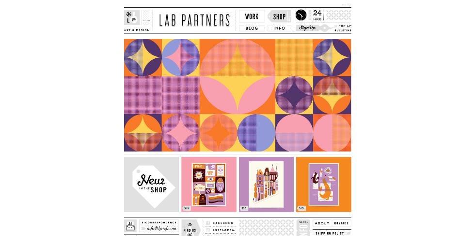 lab website design inspiration