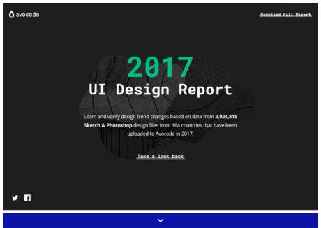 Avocode 2017 UI Design Report