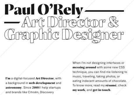 Paul O'Rely ⁄⁄ Art Director