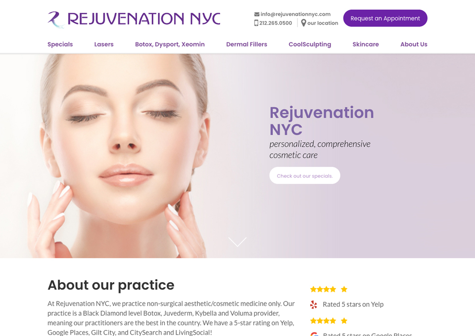 Rejuvenation nyc - Top CSS Gallery