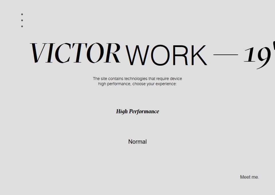 Victor Work | Folio19″