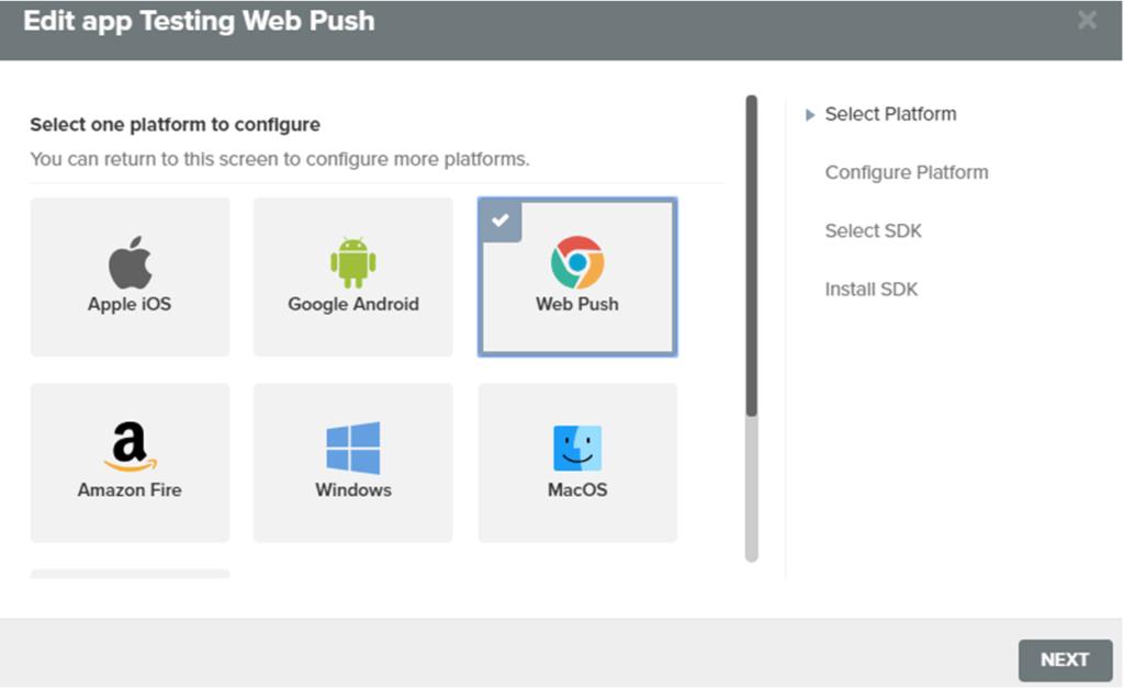 Edit App Testing Web Push