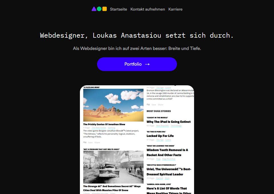 Webdesigner, Loukas Anastasiou