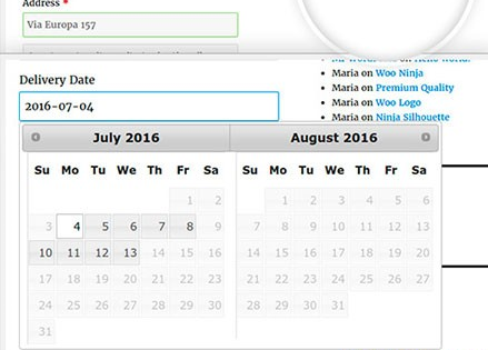 WooCommerce Delivery Date Plugin