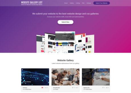 Website Gallery List