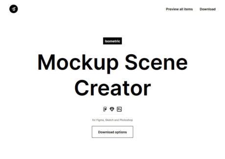 Isometric Mockup Scene Creator