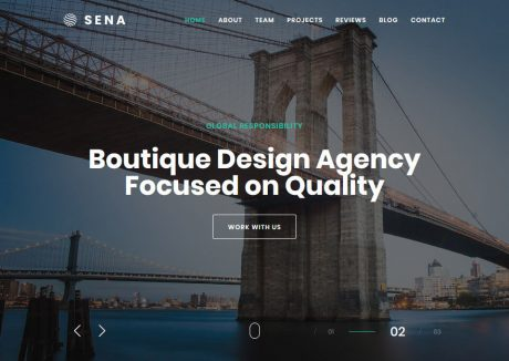Sena – Creative WordPress Theme