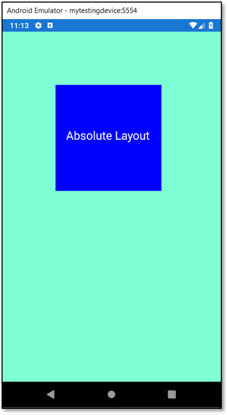 Absolute Layout