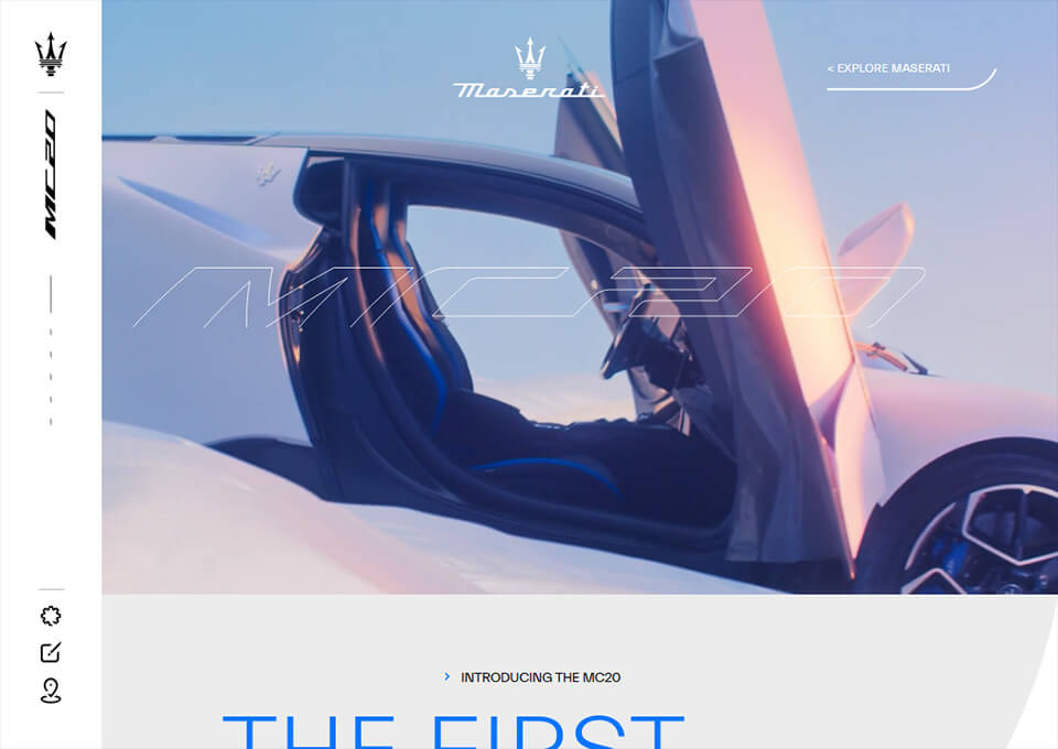 Maserati MC20 Product Page