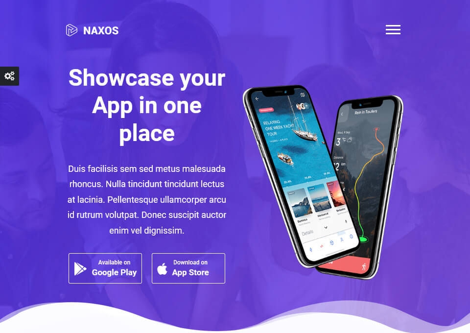 Naxos – App Landing Page Template