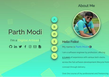 Parth Modi Web Portfolio