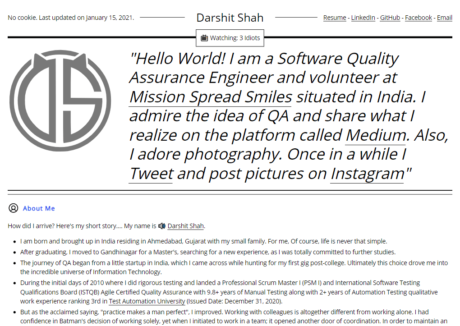 Black and White Portfolio Website