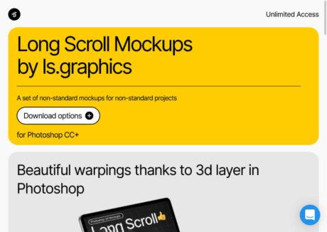 Long Scroll Mockups
