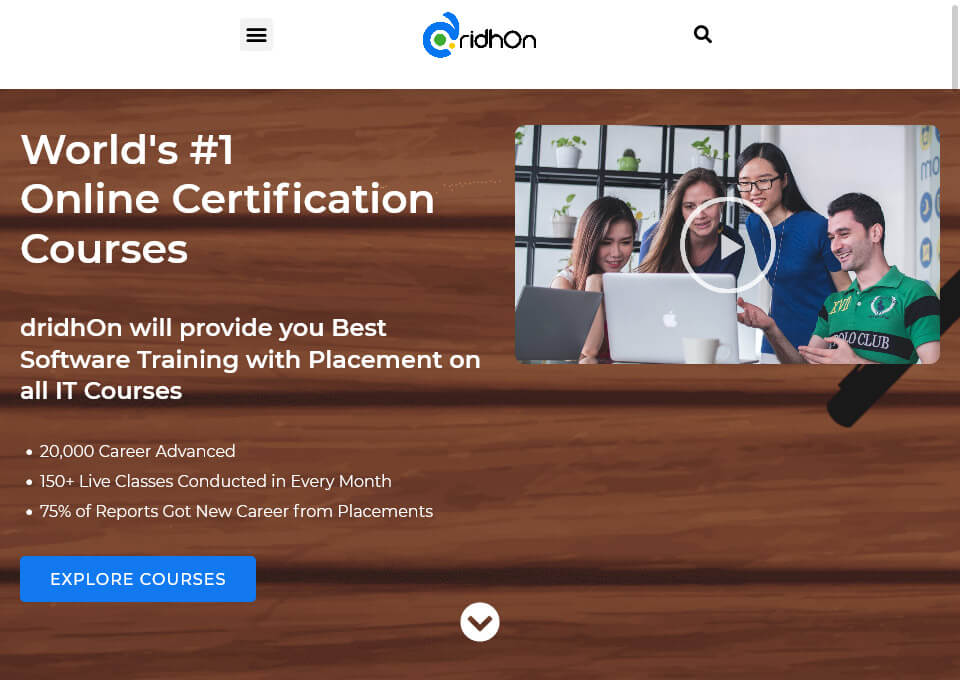 dridhOn: Live Online Training