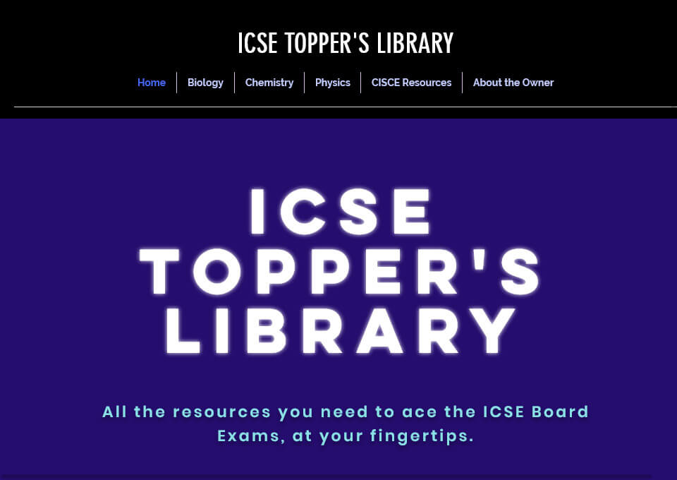 ICSE Topper's Library