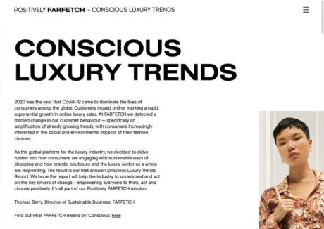 FARFETCH – Conscious Luxury Trends