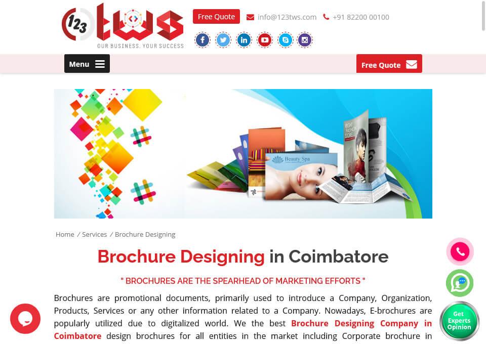 Brochure design coimbatore