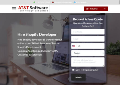 AT&T Software Hire Shopify Developer